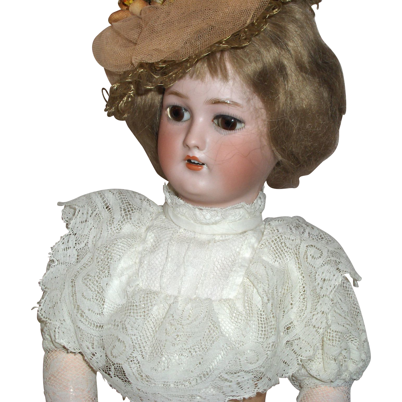 "17 1/2""  Simon & Halbig 1159 Gibson Girl German Bisque Doll Gorgeous"