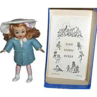 MIB 4 inch Tiny Town Felt Leena Lee Doll