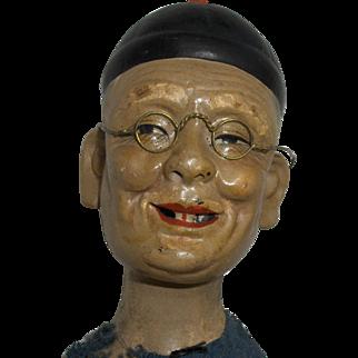 "13"" Oriental Character Man Composition Fabulous Face (clean out sale)"