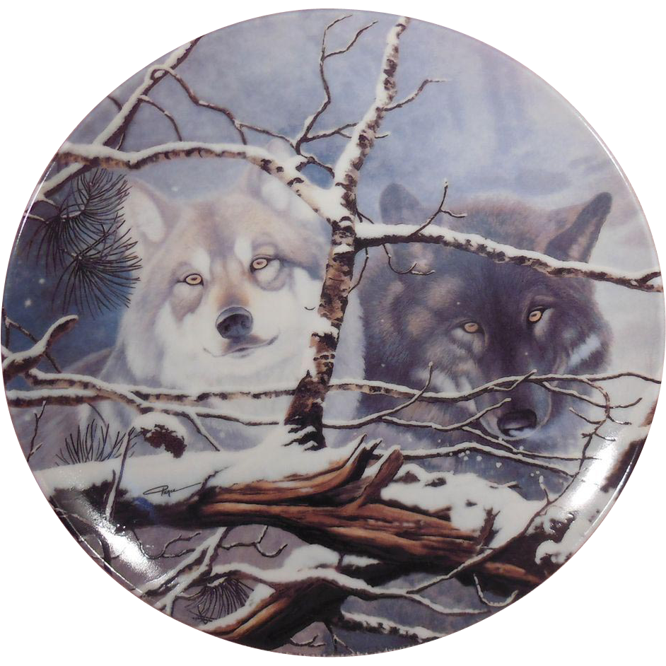 Eyes in the Mist Collector Plate from the Eyes of the Wild Collection by Daniel Renn Pierce