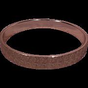 Gold Tone Bangle Bracelet Signed W Germany