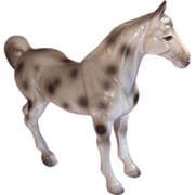 Porcelain Appaloosa White and Black Spotted Horse Numbered Japan