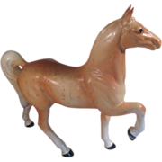 Cream Colored Porcelain Horse Numbered Japan