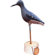 19th Century Folding Tin Shore Bird Decoy