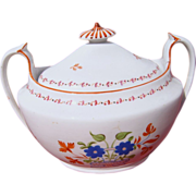 19th Century Sugar Bowl with One Matching Handless Cup