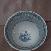 Early W. Adams Cassino Light Blue Transferware Cup & Saucer