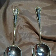 Two Beautiful Bailey Banks and Biddle Soup Spoons
