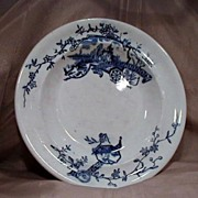 Early Scottish Flow Blue Bowl by R. Cochran & Co.