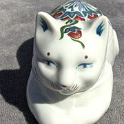 Pretty Cat Trinket or Pin Box by Elizabeth Arden