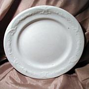"19th Century J. Wedgwood White Ironstone 7 ½"" Plate"