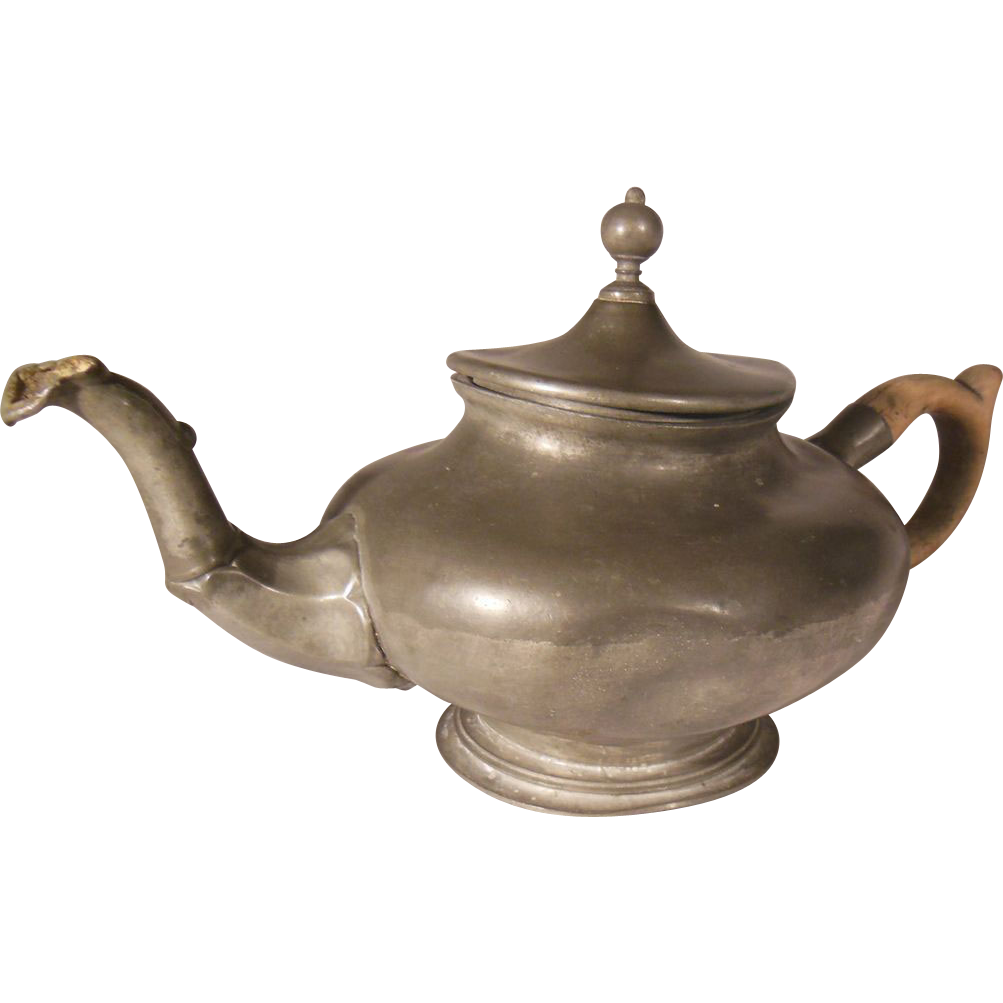 English Pewter Teapot Circa 1840