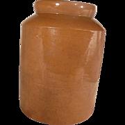 19th Century Brown Slipware Storage Crock