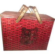 Lorillard Chewing Tobacco Red Tiger Lunch Pail Tin