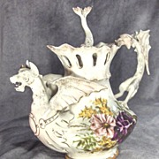 19th Century Porcelain Dragon Teapot