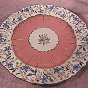"19th Century Mintons 9"" Dinner Plate Fuchsia Pattern Produced for Bailey, Banks & Biddle"