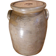 F. A. Plaisted & Son Gardiner Maine 2 Gallon Stoneware Crock