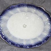 Large La Francaise Flow Blue Platter