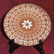19th Century Royal Crown Derby Daisy Brown Saucer