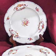 Set of 3 Mintons Floral Embossed Plates