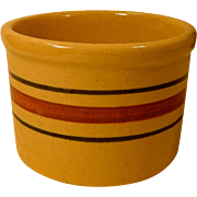 Vintage Robinson Ransbottom RRP Roseville Ohio Striped Yelloware  Butter Crock