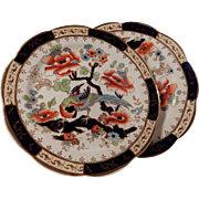 Two Losol Ware Shanghai Pattern Plates Keeling & Co. C 1920's - 30's