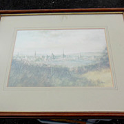 Framed Landscape Print by Noted English Artist K. J. Messor