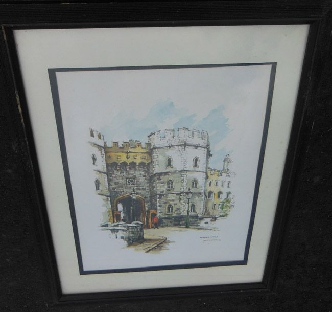 Watercolor Art Print Windsor Castle by Noted Artist Jan Korthals