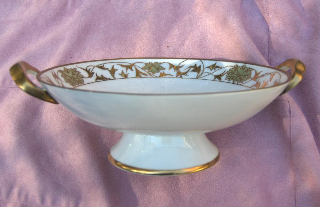 Nippon Red Mark Hand Painted Floral And Raised Gold