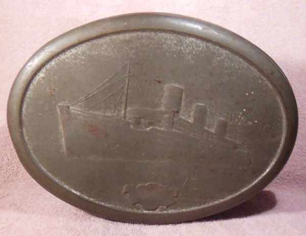 1930's Ocean Liners Biscuit or Candy Tin