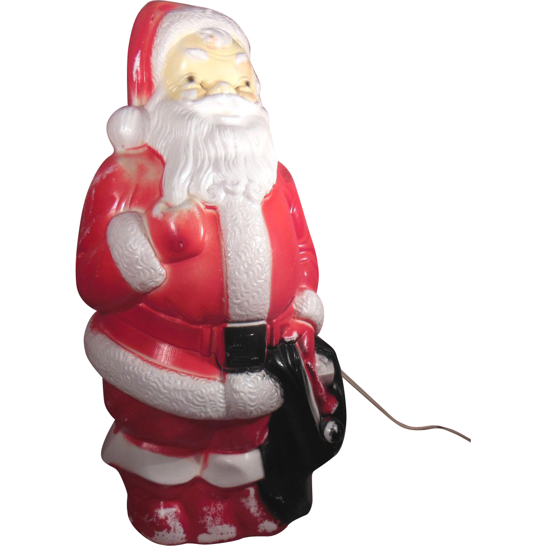1968 empire plastic corp lighted standing blow mold santa sold on