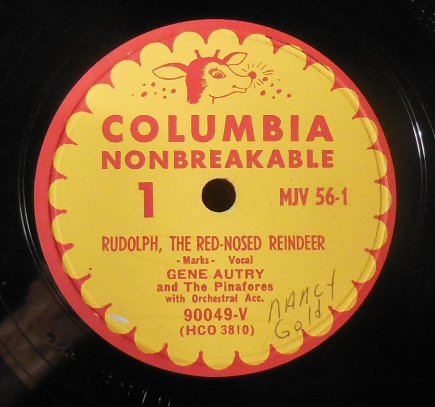 Vintage 1949 78 Rpm Vinyl Children S Record Rudolph The