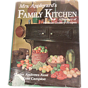 Cookbook – Mrs. Appleyard's Family Kitchen – A Treasury of Vermont Country Recipes