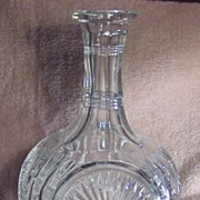 Cut Clear Glass Decanter or Carafe