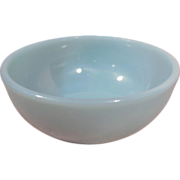 Fire King 1950's Oven Ware Turquoise Blue Chili Bowl