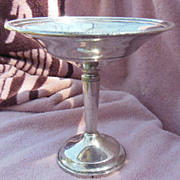 Tall Sterling Silver Compote