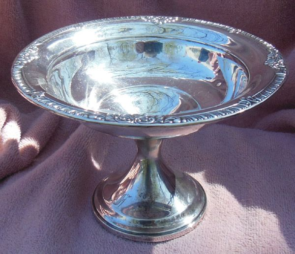 Ornate Sterling Silver Compote by Fisher Silversmiths Jersey City, NJ