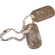 Vintage Hasbro G I Joe Dog Tags and Outfit
