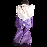 Vintage Russ Pierrot Porcelain Doll Purple Outfit in Original Box