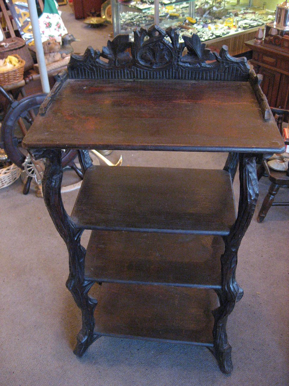 Black Forest Carved Shelf Unit c.1890
