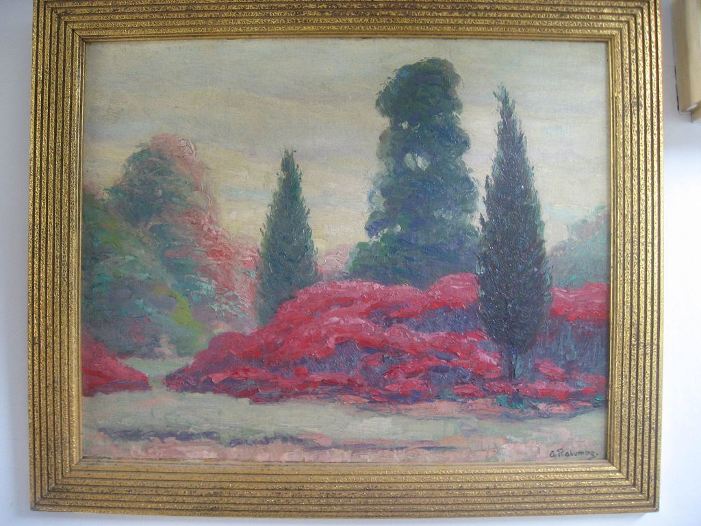 Landscape by Listed Artist, Alphonse Palumbo, Oil Painting on Canvas