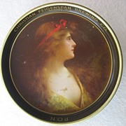 Christian Feigenspan Brewing Co. Beer Tray with Beautiful Girl by Artist Angelo Asti