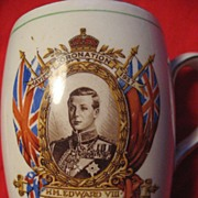Edward Vlll Royal Commemorative Coronation Mug, 1937