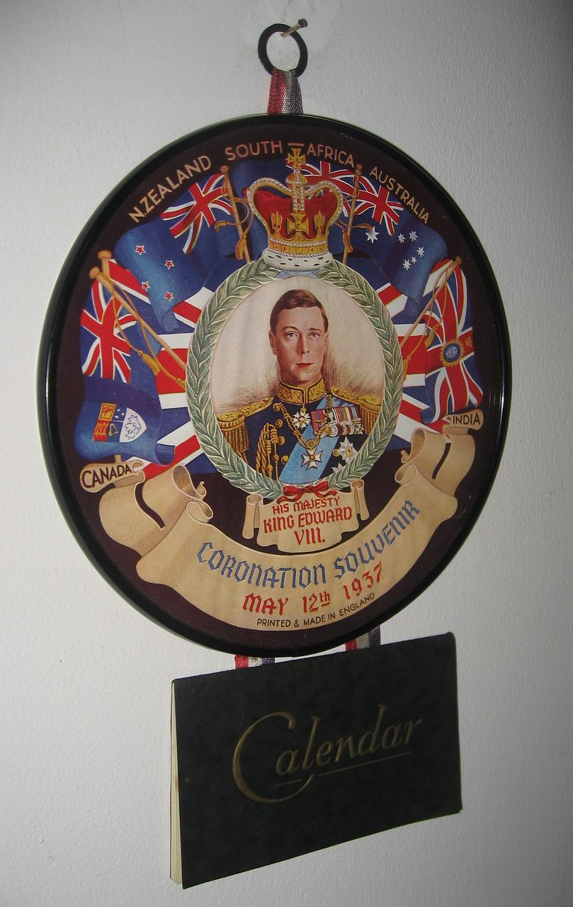 King Edward Vlll Coronation Souvenir Wall Calendar 1937