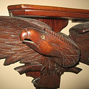 Large Wood Carved Eagle Shelf  c.1890