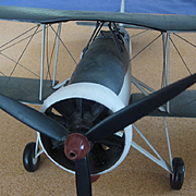 Large Model of Fairey Swordfish Biplane made in the 1930's
