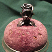 Tiffany & Co. Sterling Silver Pin Cushion with Rose - Mid Century