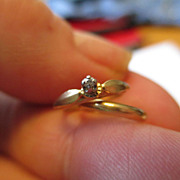 "14k ""Wedding Rings"" Charm Circa 1950's"