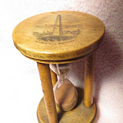 Mauchline Ware Egg timer / Hour Glass with Bunker Hill Monument