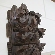 Black Forest Carved Wooden Letter Rack