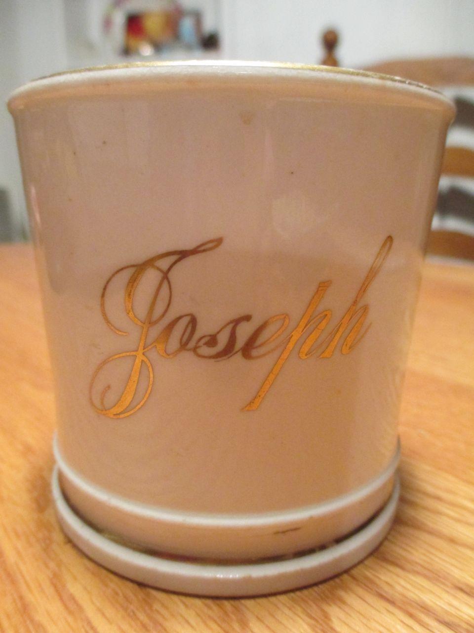Child's Antique Mug with Joseph - Porcelain